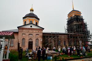 Богослужение в селе Хотилово 13 июля 2017 года